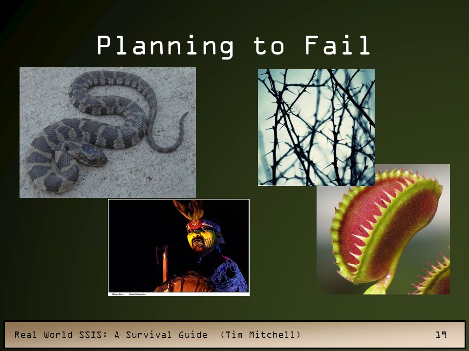 Real World SSIS: A Survival Guide (Tim Mitchell) 19 Planning to Fail