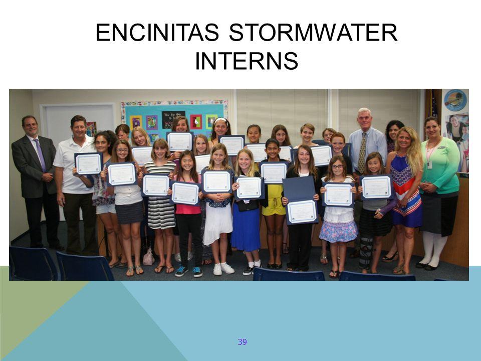 39 ENCINITAS STORMWATER INTERNS