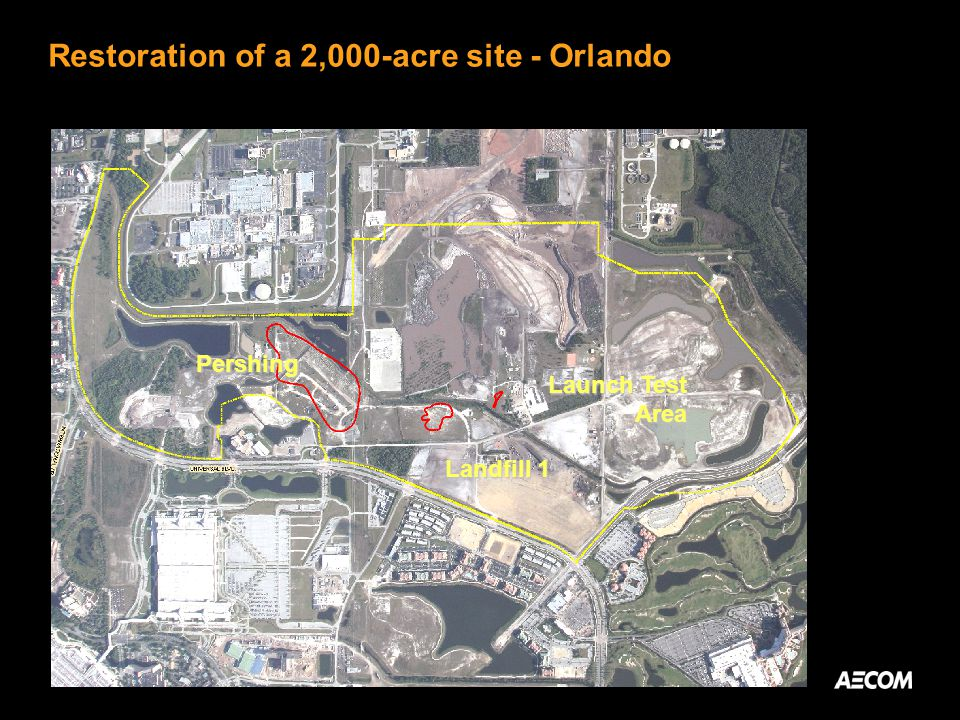Restoration of a 2,000-acre site - Orlando Pershing Landfill 1 Launch Test Area