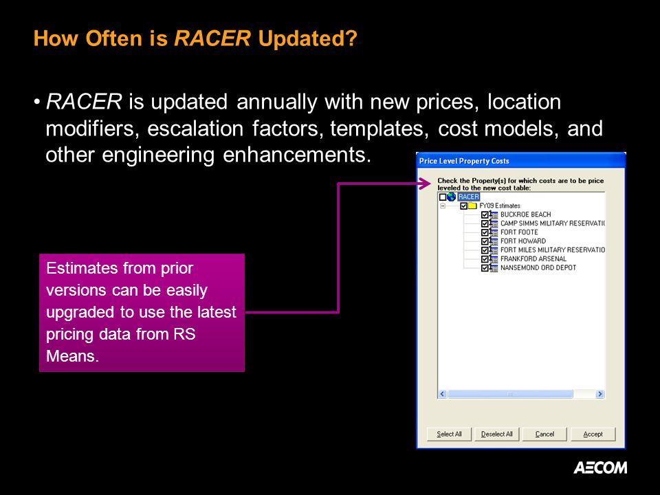 How Often is RACER Updated.