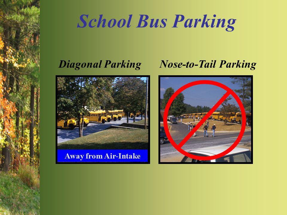 School Bus Parking Diagonal ParkingNose-to-Tail Parking Away from Air-Intake
