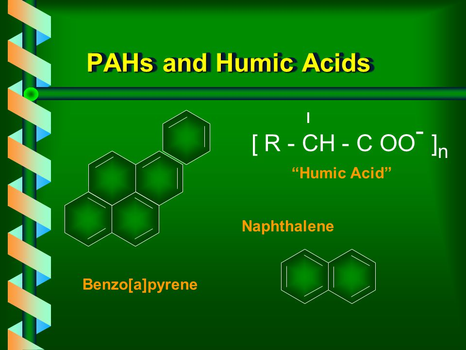 Extraction of PAHs from Natural Waters Extraction of analytes such as PAHs from natural waters, can be problematic due to co-extracted humic and fulvi