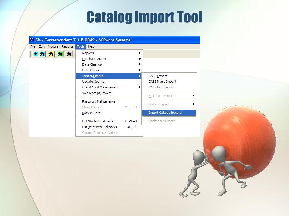 Catalog Import Tool