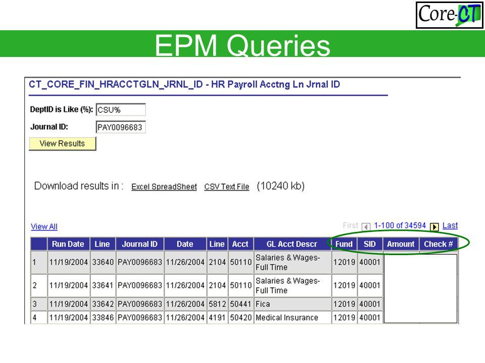 EPM Queries