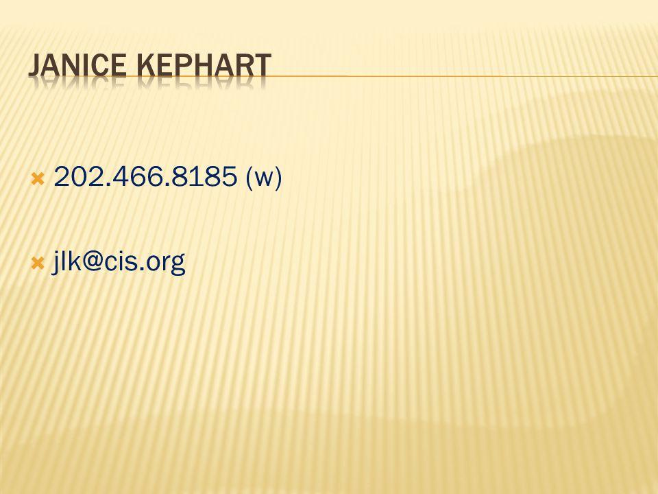  202.466.8185 (w)  jlk@cis.org