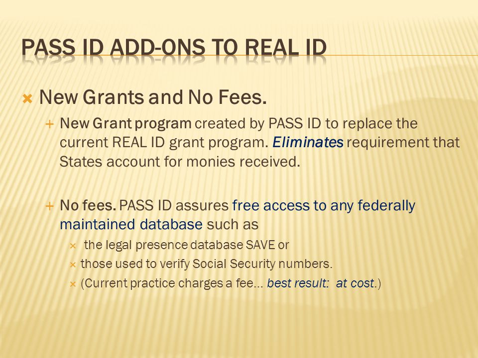  New Grants and No Fees.