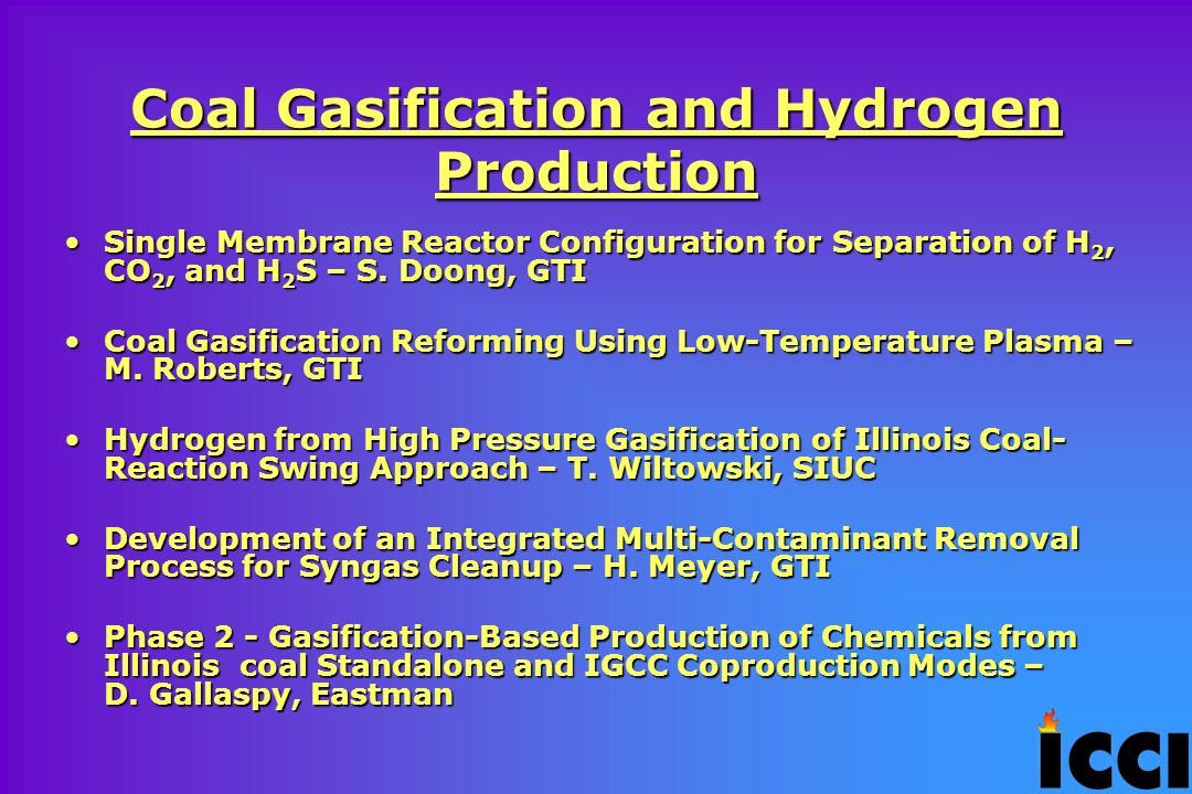 Coal Gasification and Hydrogen Production Single Membrane Reactor Configuration for Separation of H 2, CO 2, and H 2 S – S.