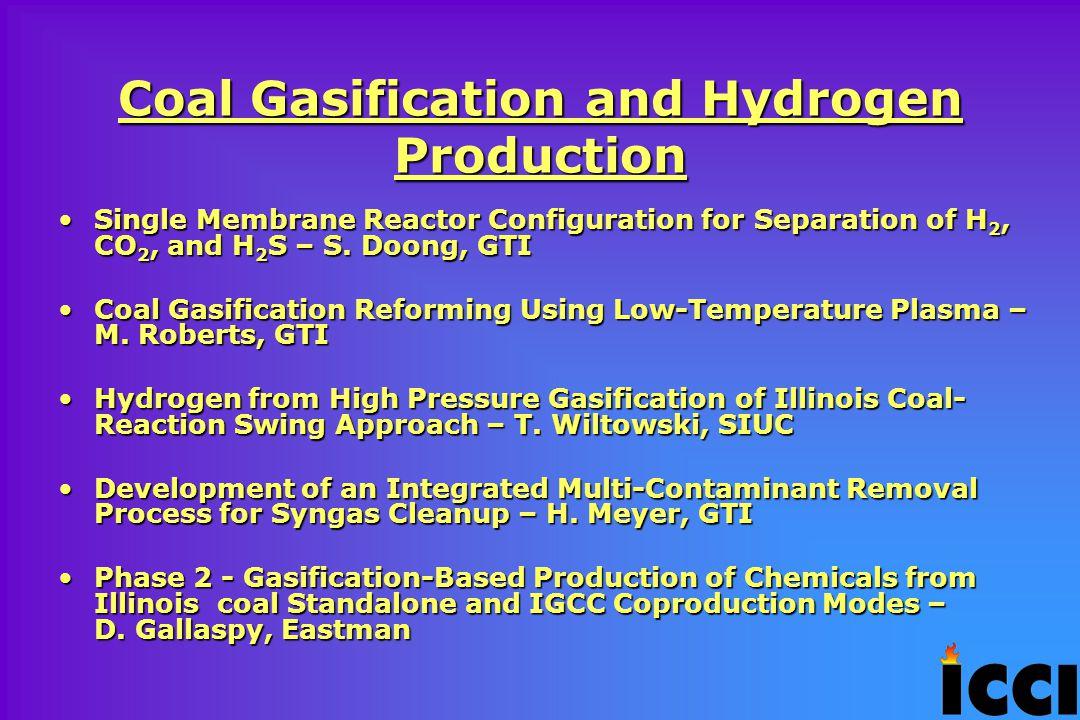Coal Chemistry Oxidative Hydrothermal Dissolution of Illinois Coal – K.
