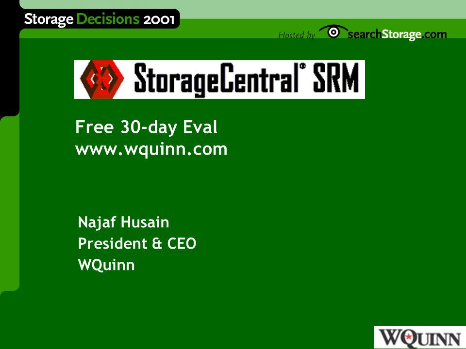 Management Interface Windows 2000 Kernel SAN,NAS,RAID Storage Sub-system Framework MMCManagementWebConsole DCOM and WMI Interfaces NTFS/FAT File System DiskAllocationProviderScreeningProviderI/OActivityProvider Storage Arrays ReportProvider StorageCentral SRM v.