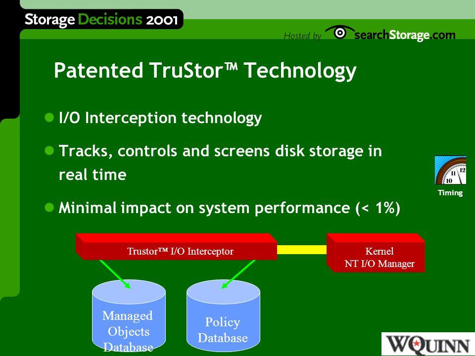 StorageCentral® AASET™ SRM Audits regain 30% - 50% storage space.
