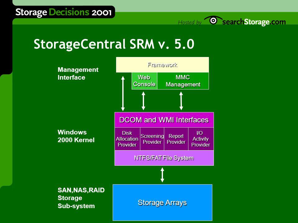 StorageCentral SRM v.