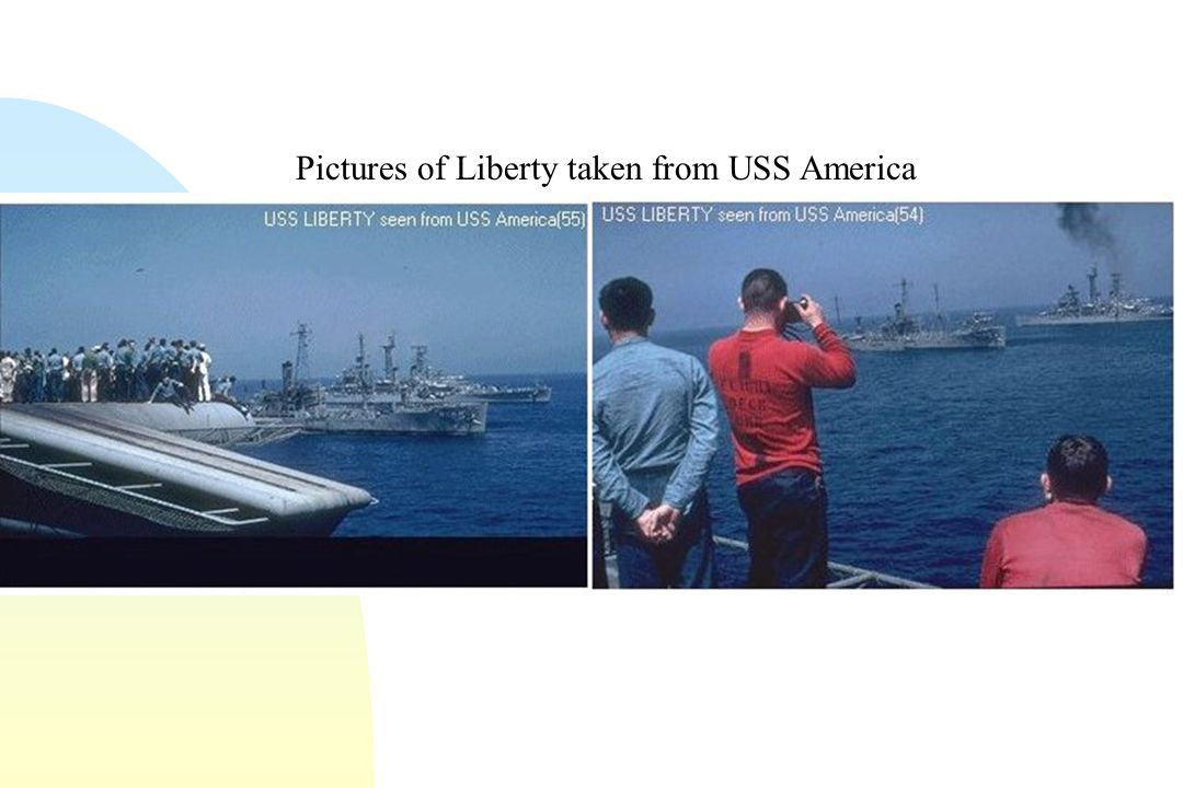 Pictures of Liberty taken from USS America