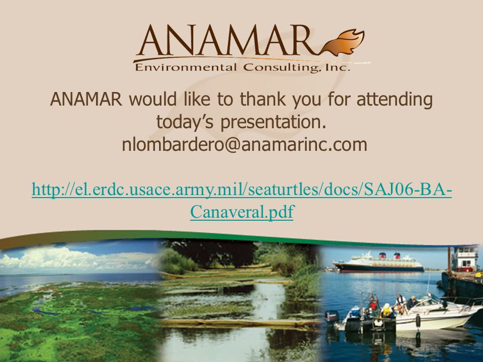 ANAMAR would like to thank you for attending today's presentation.