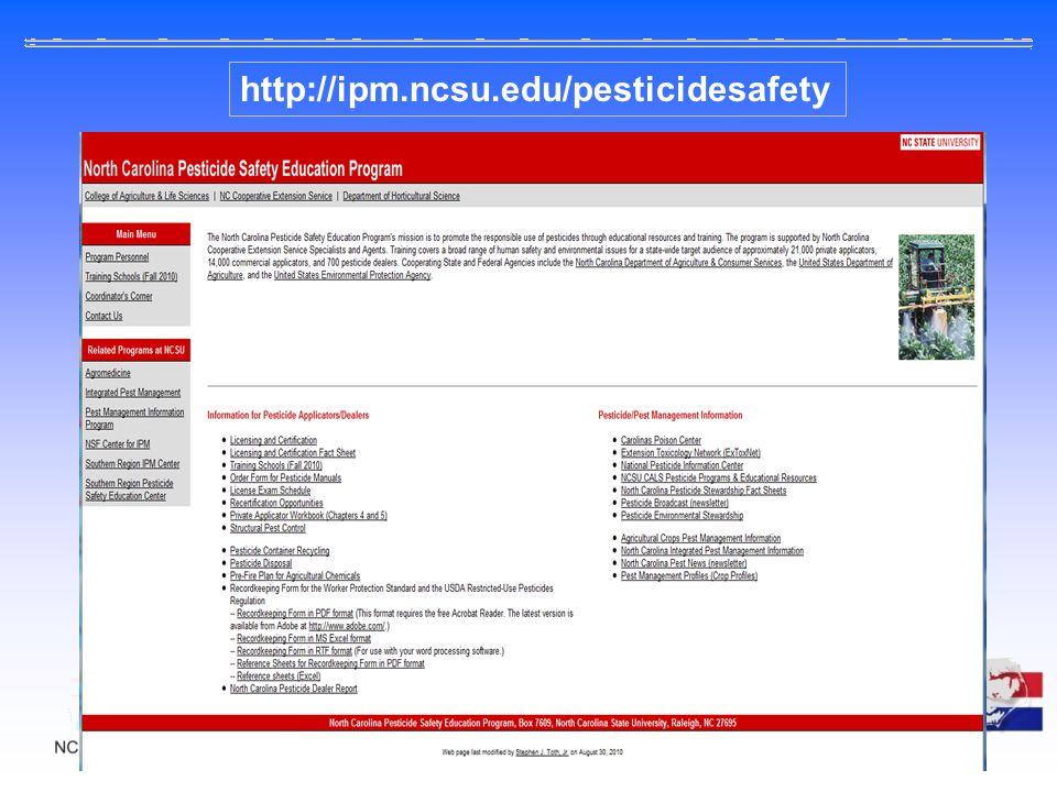 http://ipm.ncsu.edu/pesticidesafety