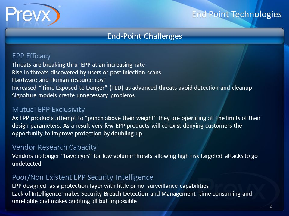 End Point Technologies Website Drop Video Demonstration Please visit the following URL for a website drop video demonstration: http://www.prevx.com/vid/websitedrop 23
