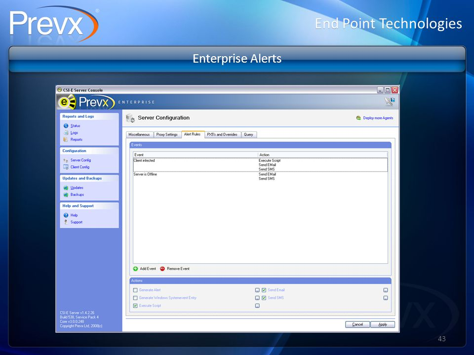 End Point Technologies Enterprise Alerts 43