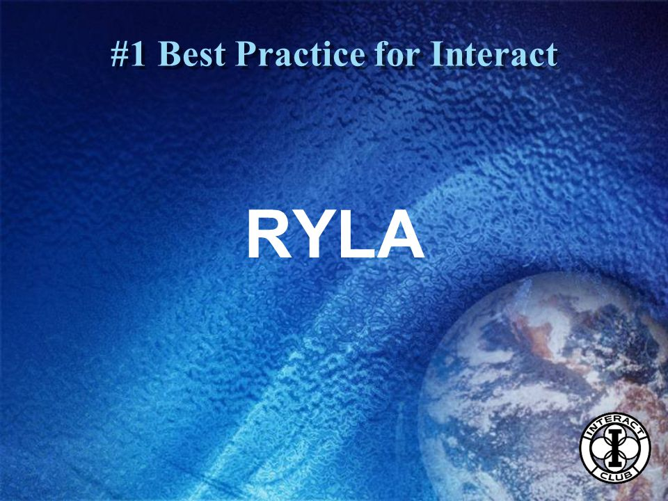 RYLA #1 Best Practice for Interact