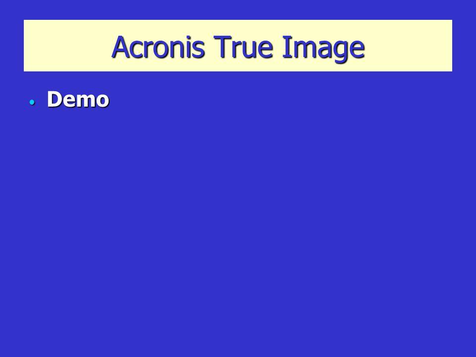 Acronis True Image Demo Demo