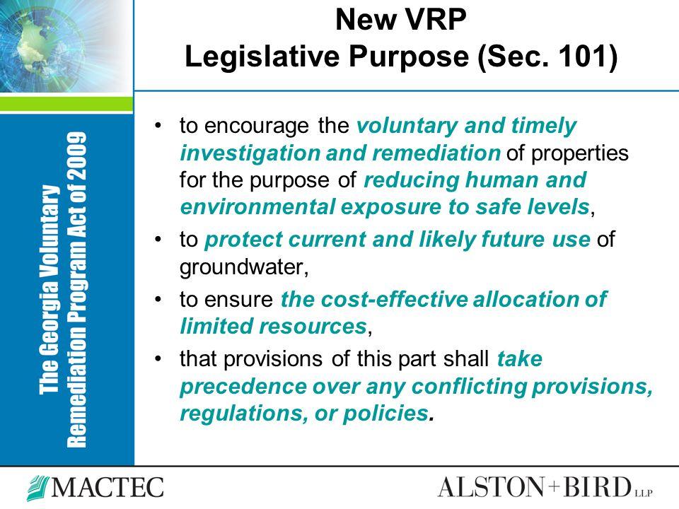 VRP Basics Qualifying Property (Sec.