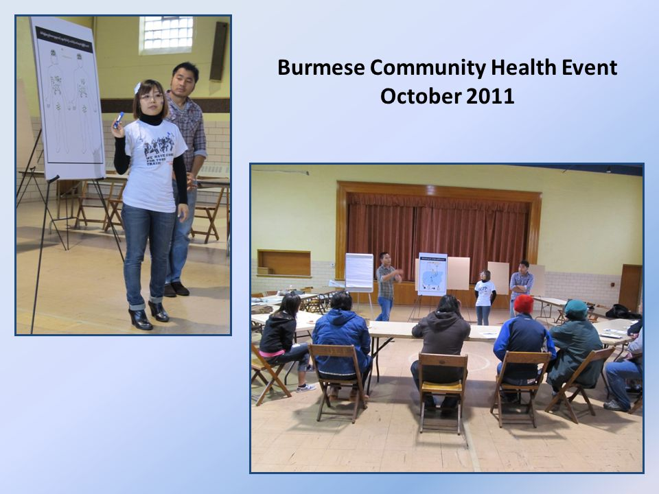 Burmese Community Health Event October 2011
