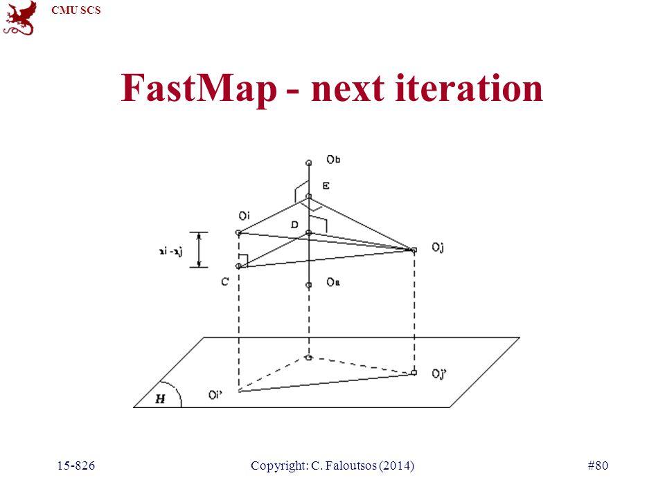 CMU SCS 15-826Copyright: C. Faloutsos (2014)#80 FastMap - next iteration