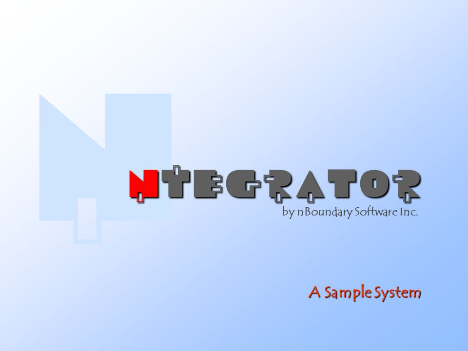 A Sample System by nBoundary Software Inc. 