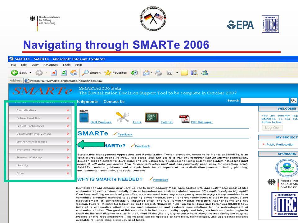 Navigating through SMARTe 2006