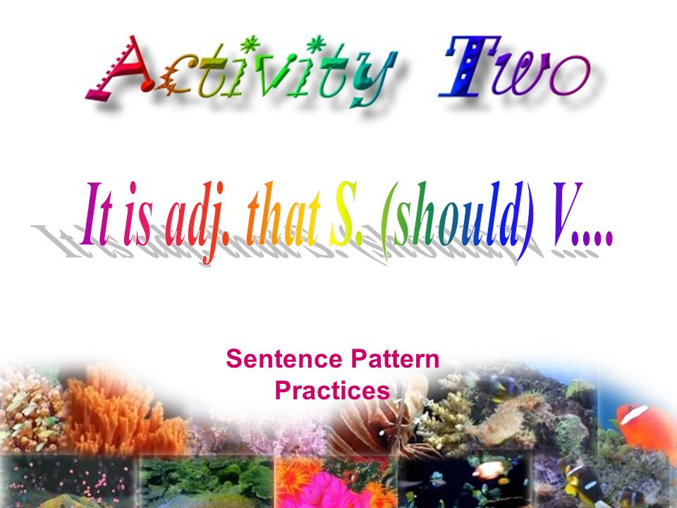 Sentence Pattern Practices