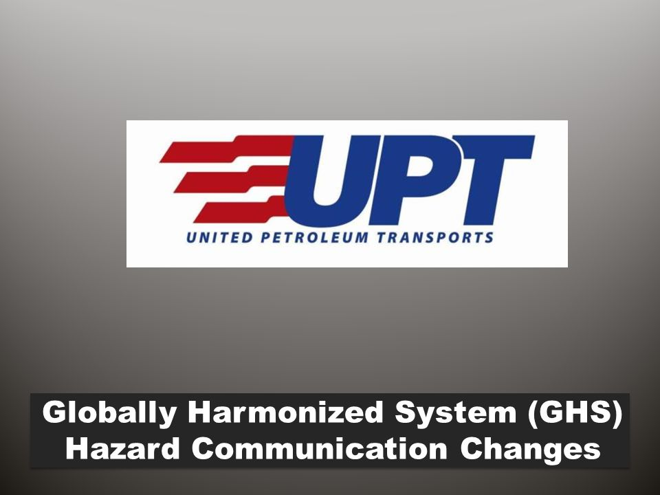 Globally Harmonized System (GHS) Hazard Communication Changes