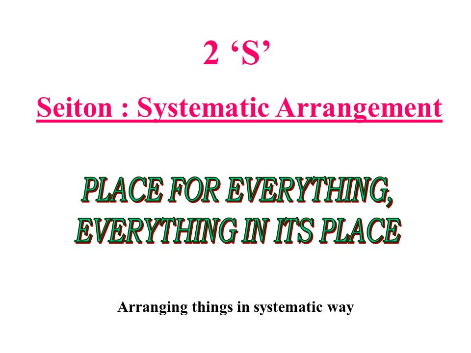 28 Seiri = Sorting Dealing with papers How to Reduce Papers on Your Table ? 4 D Principle 4 D Principle DO DELEGATE DELAY DUMP