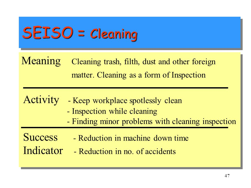 3 ' S' - SEISO 3 'S' – We keep our body clean everyday by having bath and cutting nails etc