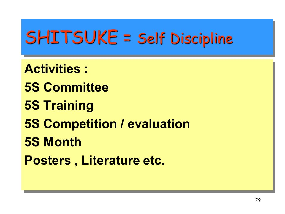 "78 SHITSUKE = Self Discipline Japanese Meaning : Dictionary meaning is ""learning of the manners"" ""having manners, dressing neatly"" OR ""training childr"