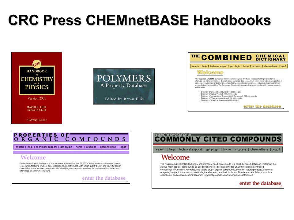 CRC Press CHEMnetBASE Handbooks