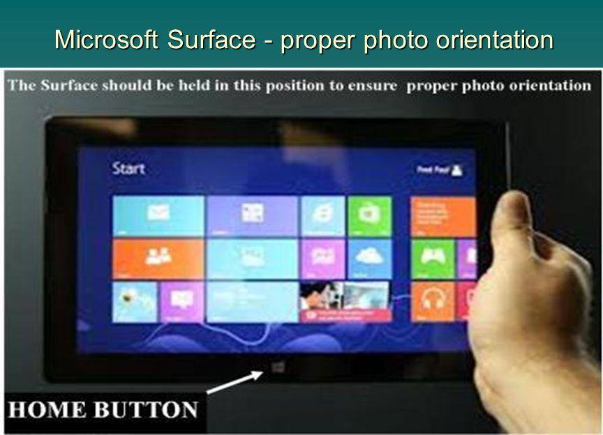 Microsoft Surface - proper photo orientation
