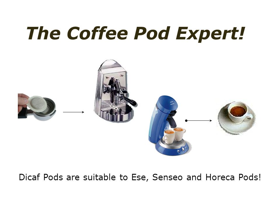 Dicaf Pods are suitable to Ese, Senseo and Horeca Pods! The Coffee Pod Expert!