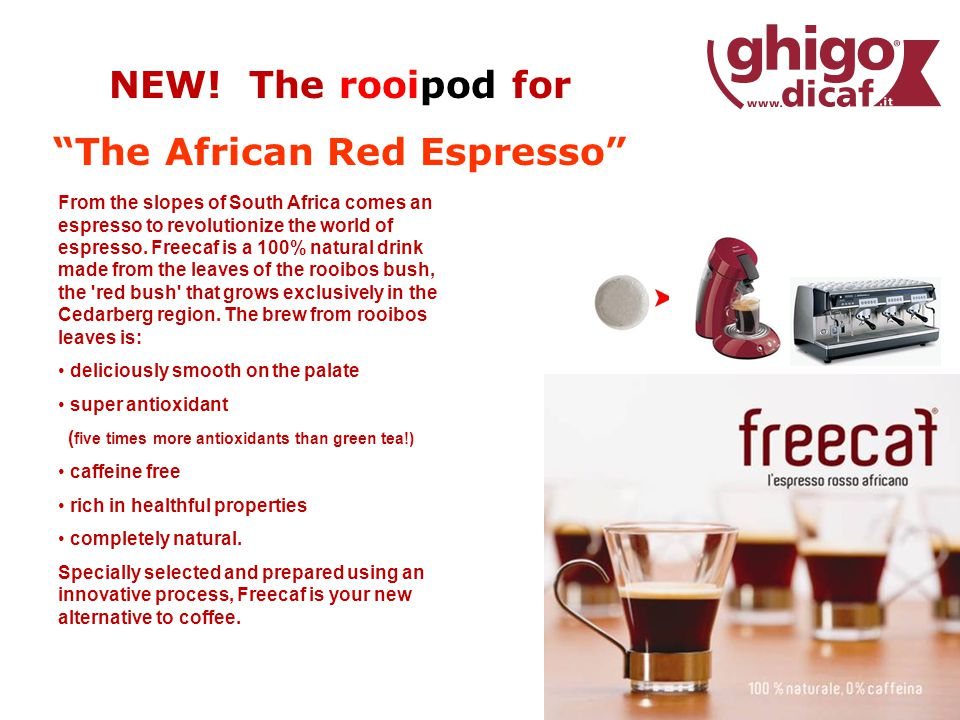 From the slopes of South Africa comes an espresso to revolutionize the world of espresso.