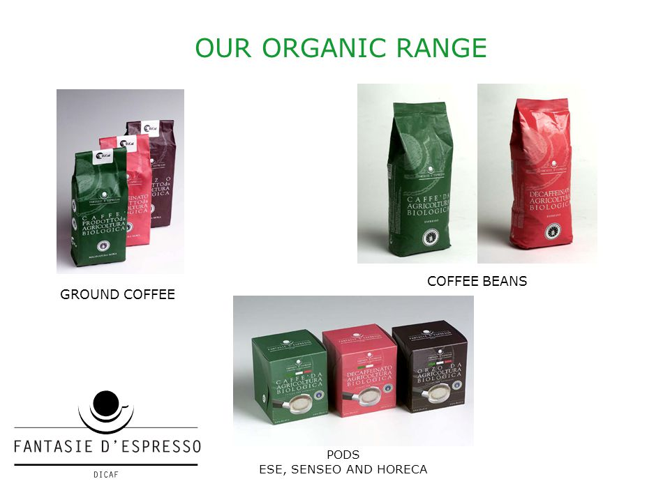 OUR ORGANIC RANGE GROUND COFFEE COFFEE BEANS PODS ESE, SENSEO AND HORECA