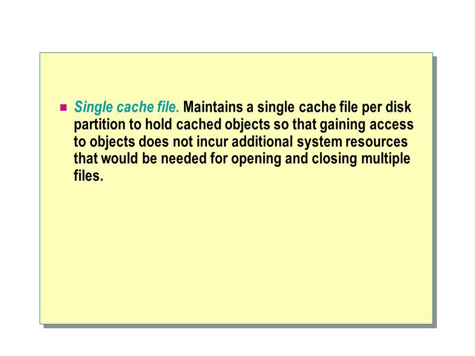 Single cache file.