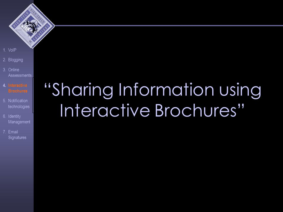 Interactive Brochures Quick, easy way to personalize communications Customizable content Direct link leads contacts back to website Workflow approval process Auto generate and send press releases Resource: www.marqui.com