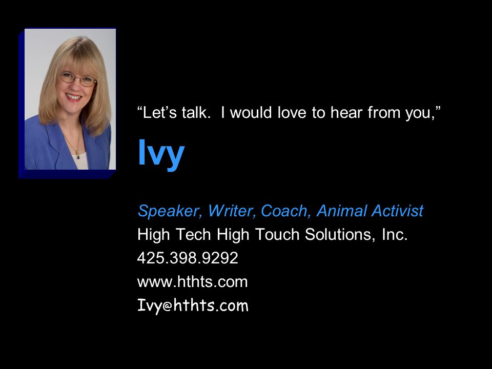 Disclaimer High Tech High Touch Solutions is not a reseller of any software or hardware product.
