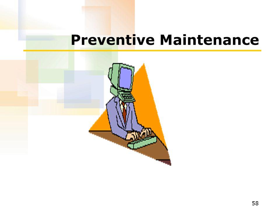 58 Preventive Maintenance
