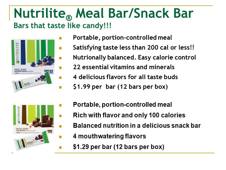Nutrilite ® Meal Bar/Snack Bar Bars that taste like candy!!.