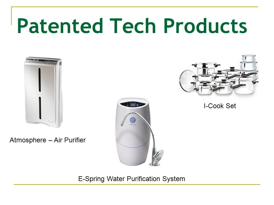 Patented Tech Products E-Spring Water Purification System I-Cook Set Atmosphere – Air Purifier