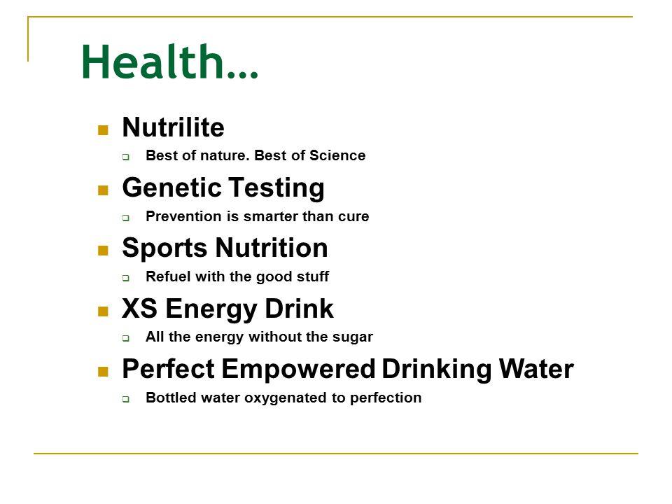 Health… Nutrilite  Best of nature.