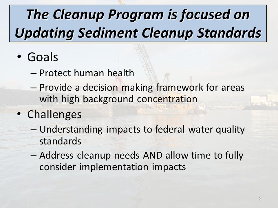 3 Sediment Management Standards Sediment Quality Standards Sediment Source Control Water Quality Standards Designated Uses Criteria Permitting 303(d) listings Etc.