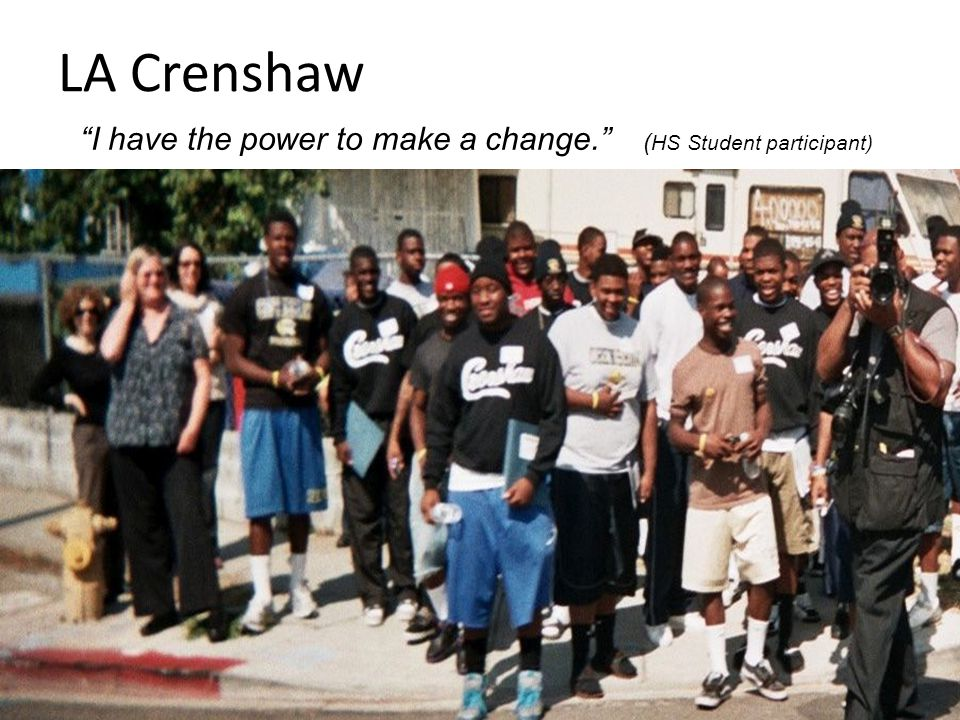 """LA Crenshaw """"I have the power to make a change."""" ( HS Student participant)"""