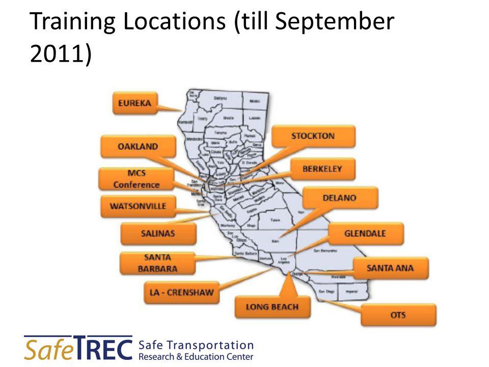 Training Locations (till September 2011)