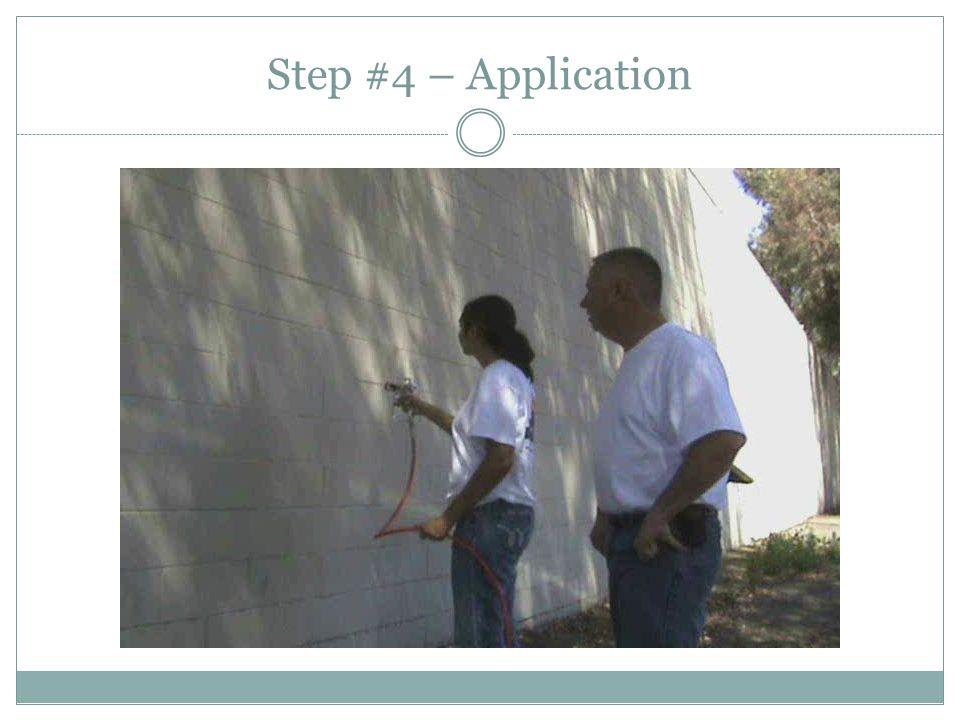 Step #4 – Application