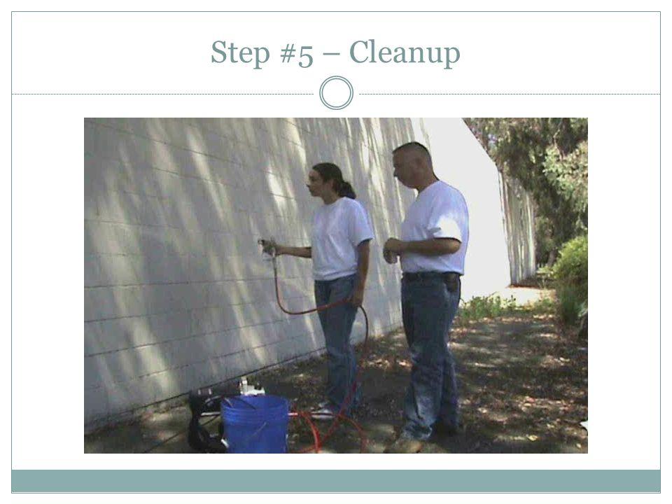 Step #5 – Cleanup