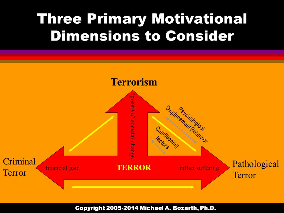 Terrorism as a violent act Does it really have to threaten physical violence.
